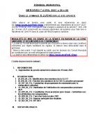 CM 2021-04-07 Ordre du jour