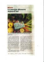 article du 14 avril 2021 Le marché démarre aujourd'hui Le Courrier de Mantes